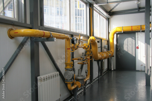 gas equipment in a boiler-house