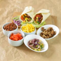 Tortillawraps mit Zutaten
