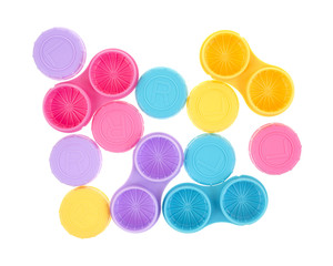 Contact lens cases with covers