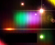 Dark abstract shiny technology spectrum background.