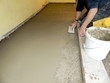 Baustellen Bauarbeiten Zement geglättet