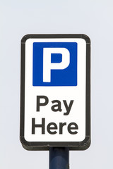 Car Park Pay Sign