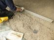 Baustellen Bauarbeiten Zement abziehen