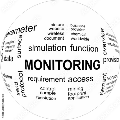 Monitoring - word cloud