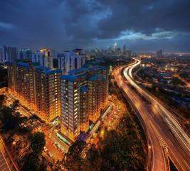 Kuala Lumpur City after Raining