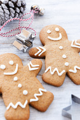Cute gingerbread man, christmas cookies