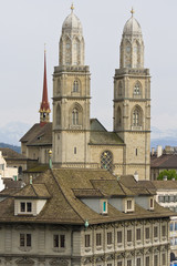 View of downtown Zurich in Switzerland