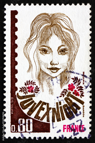 Postage stamp France 1978 shows Young Stamp Collector