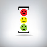 Traffic light on grey background