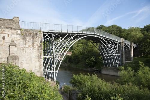 Iron Bridge spans River Severn at Ironbridge UK