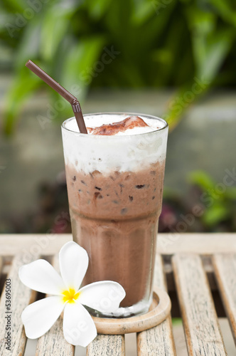 Iced chocolate.