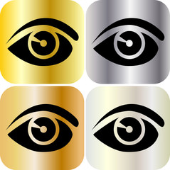 Auge Metall Web Icons