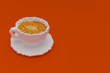 pixel art coffee cup