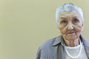 old lady's portrait