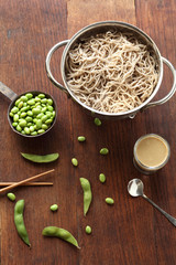 Soba Noodles and Edamame