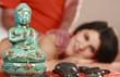 Frau erhält asiatische - asian day spa