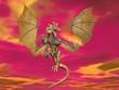 Fire breathing dragon - 3D render