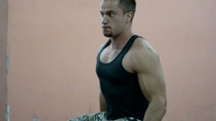 Gym training photoshooting
