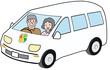 高齢者夫婦のドライブ