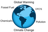 Climate change and global warming illustration concept