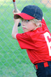 Little league baseball boy portrait