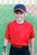 Portrait of little league player