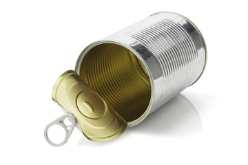 Open Empty Tin Can