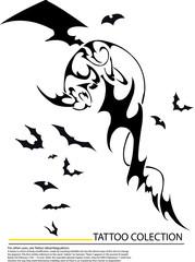 Halloween character hand writing cartoon ,tattoo