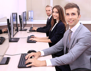 Business people at work place