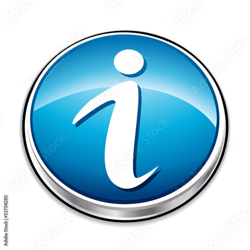 Blue information icon button.