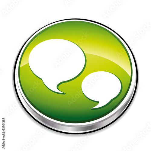 Green quote icon button.