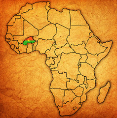 burkina faso on actual map of africa