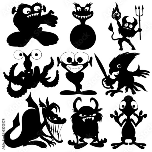Monster silhouettes.
