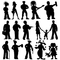 People silhouettes.