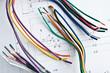 Leinwanddruck Bild - wires circuitry