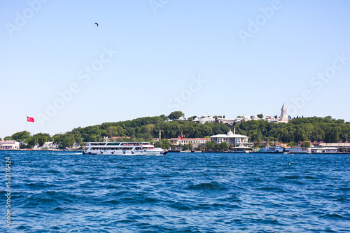 viewing topkapi palace from the sea