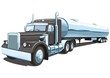Vector isolated black tanker truck