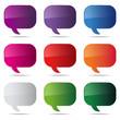 dialog bubbles set