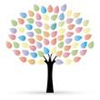 Farbenfroher Baum mit Bättern