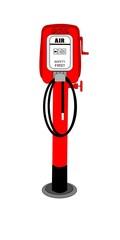 retro gas station air pump