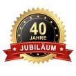 Button mit Banner - Jubiläum 40 Jahre