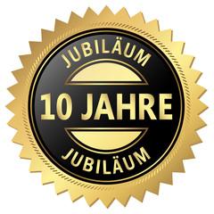 Jubiläum Button - 10 Jahre