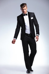 business man in fashion tuxedo