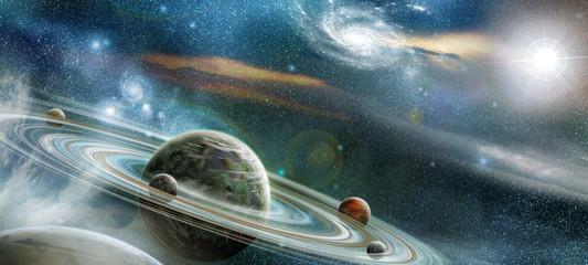 Planeta z wielu wybitnych pierścień systemu