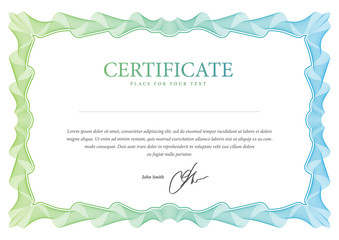 Certificate. Vector template