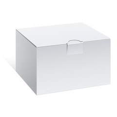 Realistic White Package Box. For electronic device