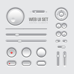 Web UI Elements Design Light Gray