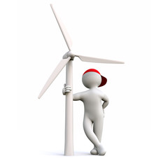 3D Man wind energy