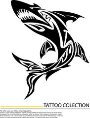 Illustration of Cartoon Shark