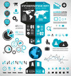 Infographic elements - set of paper tags, icons...